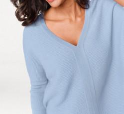 Kašmírový sveter, svetlomodrý PATRIZIA DINI #2