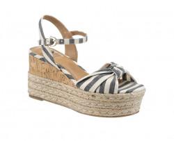 Klinové sandále Arizona, modro pruhované #1