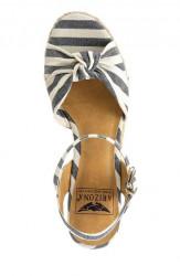 Klinové sandále Arizona, modro pruhované #2