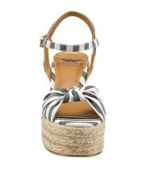 Klinové sandále Arizona, modro pruhované #3