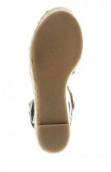 Klinové sandále Arizona, modro pruhované #5