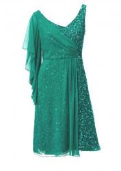 Kokteilové smaragdové šaty