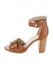 Koňakové sandále so sponou HEINE #1