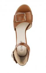 Koňakové sandále so sponou HEINE #3