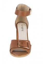 Koňakové sandále so sponou HEINE #4
