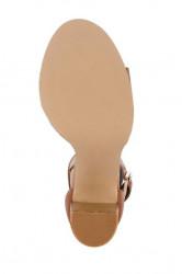 Koňakové sandále so sponou HEINE #6