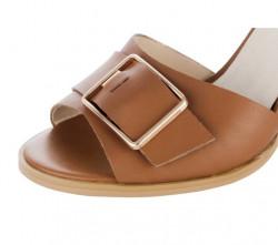 Koňakové sandále so sponou HEINE #7