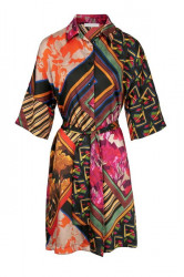 Košeľové šaty vzorované, farebné