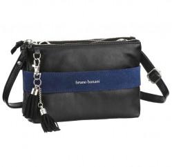 Kožená kabelka Bruno Banani, čierno-modrá