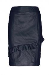 Kožená nappa sukňa Ashley Brooke, modrá