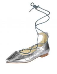Kožené balerínky Andrea Conti, strieborná