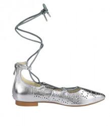 Kožené balerínky Andrea Conti, strieborná #2