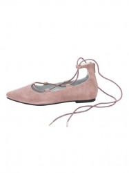Kožené baleríny Andrea Conti, ružová #1