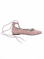 Kožené baleríny Andrea Conti, ružová #2