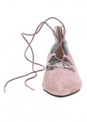 Kožené baleríny Andrea Conti, ružová #4