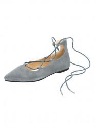 Kožené baleríny Andrea Conti, sivo-modrá