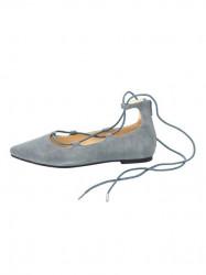 Kožené baleríny Andrea Conti, sivo-modrá #1