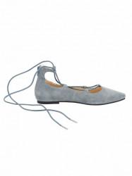 Kožené baleríny Andrea Conti, sivo-modrá #2