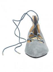 Kožené baleríny Andrea Conti, sivo-modrá #4
