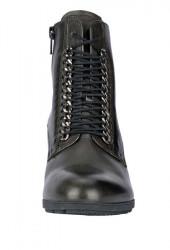 Kožené členkové GABOR čižmy, čierna #4
