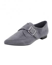 Kožené elegantné topánky, sivá