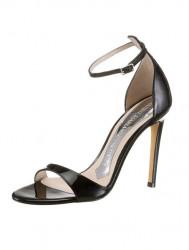 Kožené lakované sandále Guido Maria Kretschmer, čierna