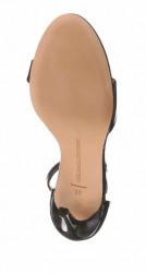 Kožené lakované sandále Guido Maria Kretschmer, čierna #5