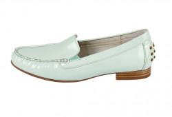 Kožené lakované topánky Gabor, mätová #1