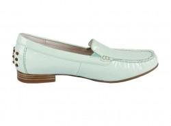 Kožené lakované topánky Gabor, mätová #2