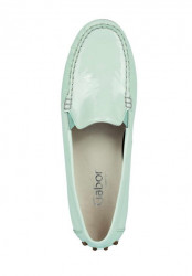 Kožené lakované topánky Gabor, mätová #3