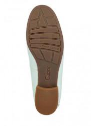 Kožené lakované topánky Gabor, mätová #6