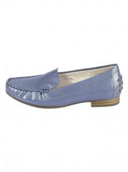 Kožené lakované topánky Gabor, modro-sivá #1