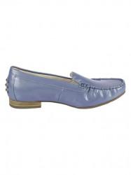 Kožené lakované topánky Gabor, modro-sivá #2