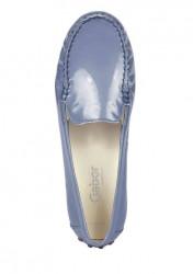 Kožené lakované topánky Gabor, modro-sivá #3
