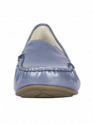 Kožené lakované topánky Gabor, modro-sivá #4