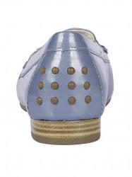Kožené lakované topánky Gabor, modro-sivá #5