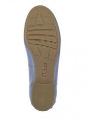 Kožené lakované topánky Gabor, modro-sivá #6