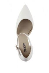 Kožené lodičky Heine, biele #3