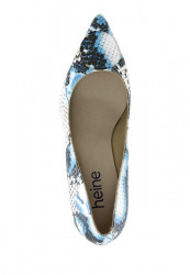 Kožené lodičky HEINE, krémovo-modrá #3