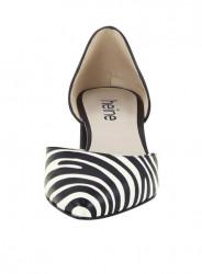 Kožené lodičky nappa so zebrovým vzorom Heine, čierno-biela #4