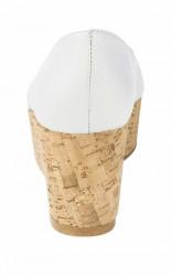 Kožené lodičky peeptoe s otvorenou špičkou, biela #5
