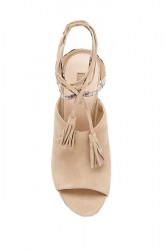Kožené sandále GUESS Elicha, béžová #2