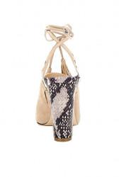 Kožené sandále GUESS Elicha, béžová #3