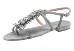 Kožené sandále Guido Maria Kretschmer, sivá