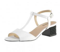 Kožené sandále HEINE, biela