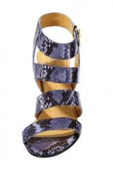 Kožené sandále, modro-čierny