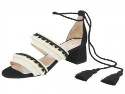 Kožené semišové sandále, Heine