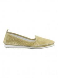 Kožené slippery v metalickom vzhľade Heine, žltá #2
