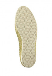 Kožené slippery v metalickom vzhľade Heine, žltá #4