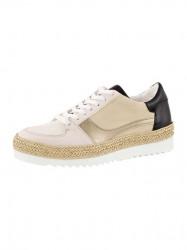 Kožené sneaker topánky Heine, béžovo-telovo-čierna